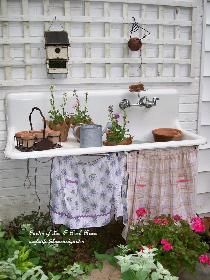 Sweet Vintage Of Mine Re Purposed Vintage Potting Sinks