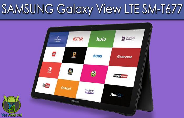 T677DXS2AQA2   Galaxy View LTE SM-T677