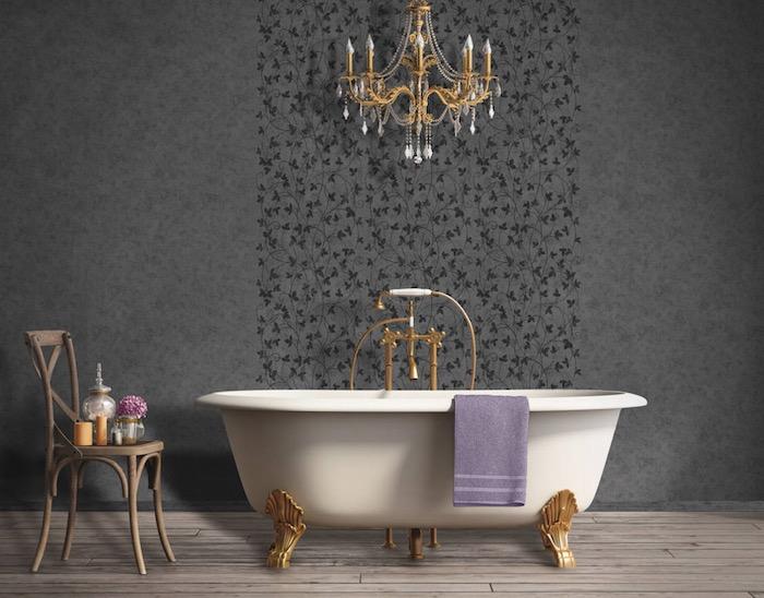 papel pintado en baños