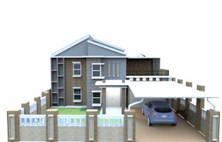 Contoh Desain Kanopi Rumah Untuk Parkir Mobil