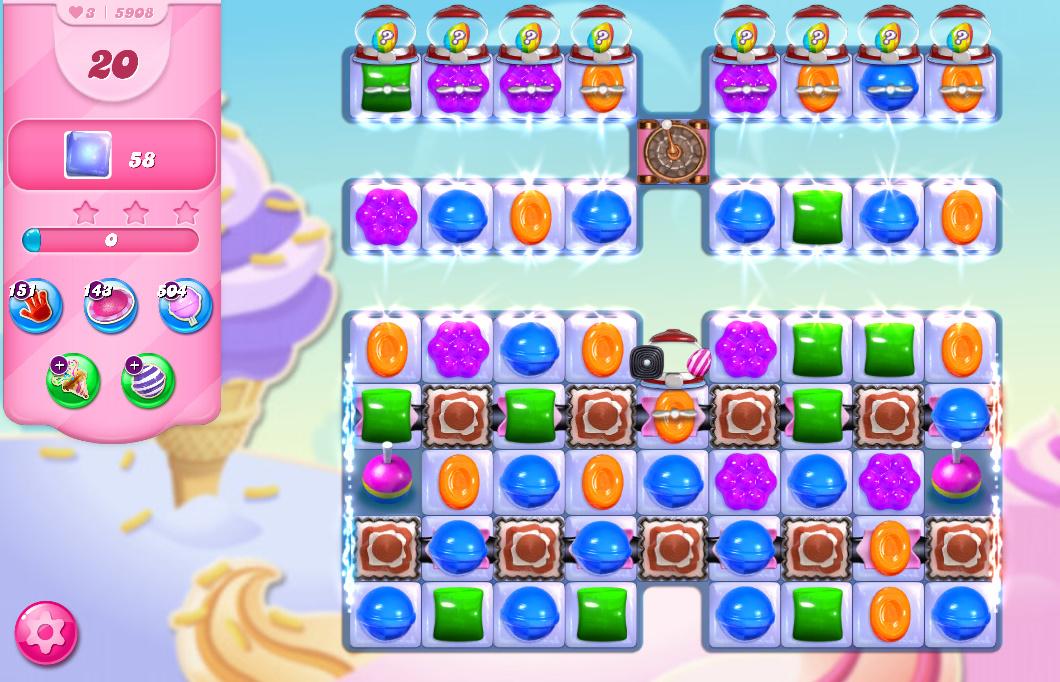 Candy Crush Saga level 5908
