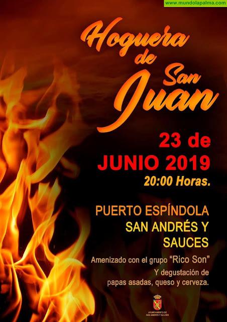 Hoguera de San Juan en Puerto Espíndola 2019