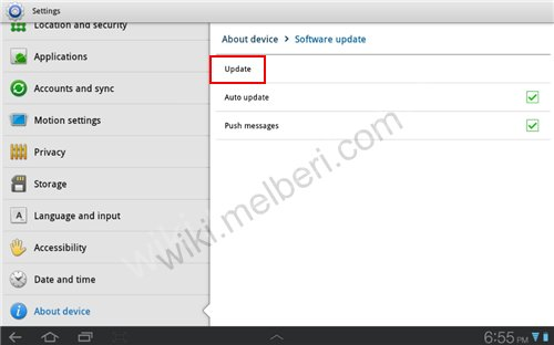 Check Software Updates On Samsung  Galaxy Tab