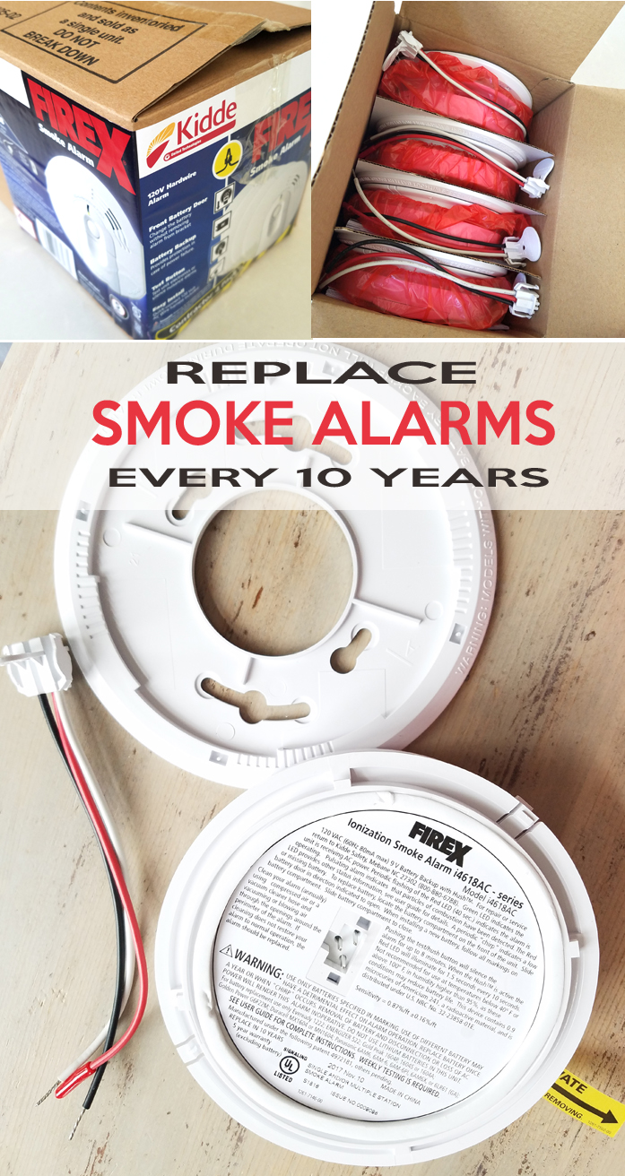 smoke detectors have to be changed every ten years