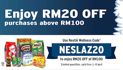 Lazada Voucher Code Malaysia Nestle Products