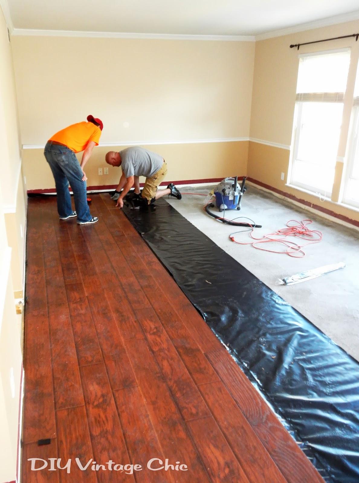 Diy Vintage Chic Diy Laminate Flooring