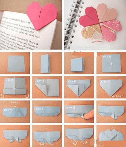 heart paper book clip