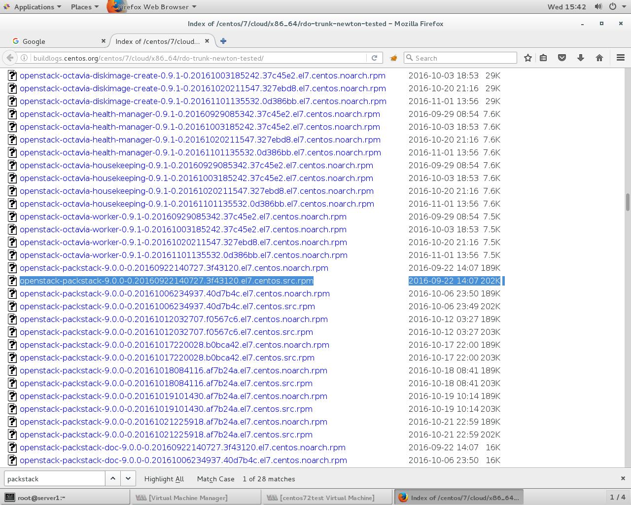 Openstack RDO && KVM Hypervisor: Packstack install RDO