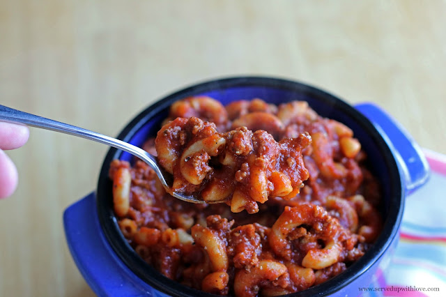 One Pot Chili Mac recipe from Served Up With Love