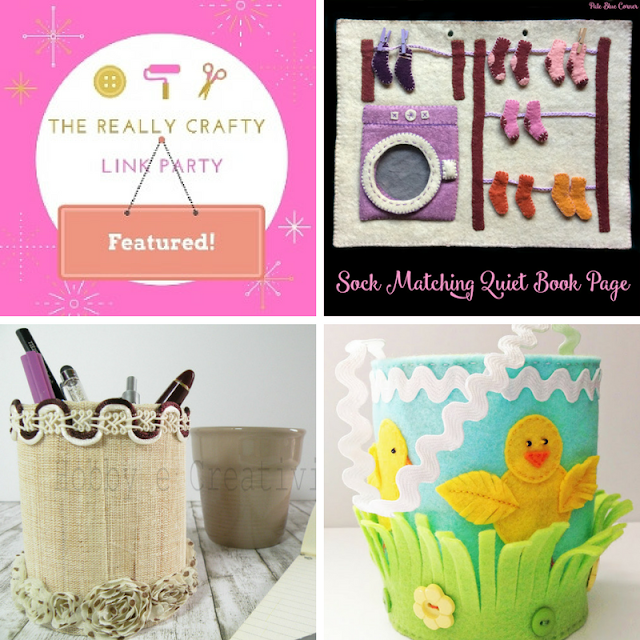 The Really Crafty Link Party #62 featured posts!
