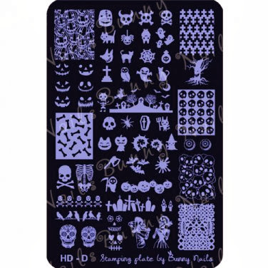 Lacquer Lockdown - bunny nails, bunny nails stamping plates, halloween stamping plates, dios de muertos stampining plates, halloween nail art, new stamping plates 2013, new image plates 2013, halloween nail art, dio de muertos nail art, stamping, konad, bundle monster, easy nail art, holiday nail art, cute nail art, halloween 2013