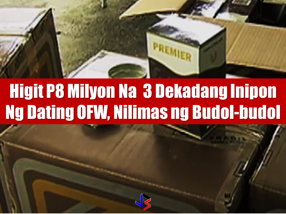 """""""Worse than demons.."""" that is how a former OFW describe the swindlers otherwise known as """"budol-budol"""" that took more than P8 million of which he earned and saved as an OFW for 30 long years. Leonardo Austria, 61, of Balanga, Bataan, narrates that he met a certain engineer de Guia together with a Japanese businessman who is interested to buy his house in Bagac, Bataan for P10 million. Their conversion was shifted  to the alleged tuna export business, which his two visitors are both into. They asked Austria to look for a certain product that could keep the fish fresh Austria then recalled a certain Vince who is a canned good importer. He met Vince just a few weeks before he met the engineer and the Japanese.  De Guia asked Austria to buy the products and said he will receive P1,000 commission for each box. Austria never had any suspicion that these people are plotting a scheme to get money from him. Thru text messages, de Guia asked Austria to buy the products for him using the victims money. Sponsored Links He paid P1 million for the initial delivery. He was then asked to deposit more than P4 million to the account of a certain Winifredo Angeles Adriano in a bank in Pala-pala, Dasmariñas, Cavite. He was again asked to deposit P3 million for the delivery of the additional 250 boxes of the product. De Guia promised him to deposit P12.5 million to his account including the finance charge of P375,000. No products has come until the night and he can no longer contact neither De Guia or Vince. When he opened the boxes, he found out that the product contents is very similar to a flour. Its too late that they realize that they had been victimized by """"budol-budol"""".  Austria appeal to the bank management  to cooperate for the arrest of the suspects and for the justice to be served. Austria and his wife could hardly sleep at night because of the incident and he even been taking anti-depressant since. The Cavite Provincial Police Office promised that they will coordinate with t"""