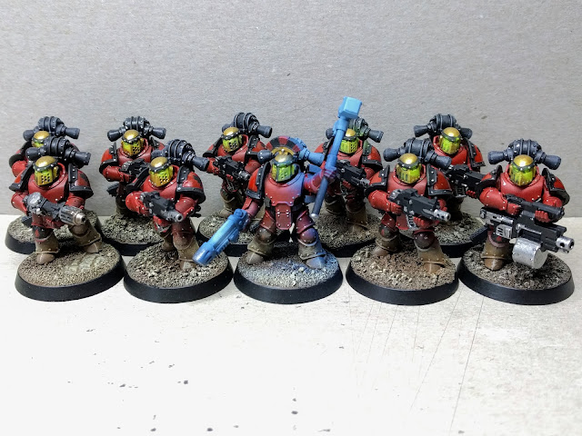1st Company, 4th Squadron Blood Angels ready for combat.