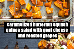 Delicious Caramelized Butternut Squash Quinoa Salad With Goat Cheese and Roasted Grapes Recipe
