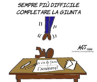 tutino, raggi, giunta, roma, assessore al bilancio, vignetta, satira