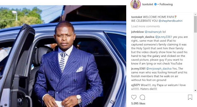 Tonto Dike accused of having an affair with South African Pastor Bushiri