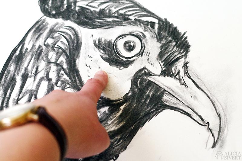 Teckningsutmaningen i juni, foto av Alicia Sivertsson. aliciasivert teckning teckningar teckna skiss skissa rita skapa skapande utmaning kreativitet skaparutmaning bloggutmaning månadsutmaning kreativ penna pennor blyertspennor blyertspenna kol fasan