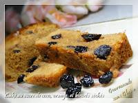 Cake au sucre de coco, orange et bleuets séchés