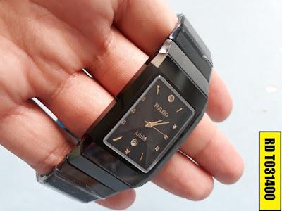 Đồng hồ mặt vuông Rado T031400 dây đá ceramic