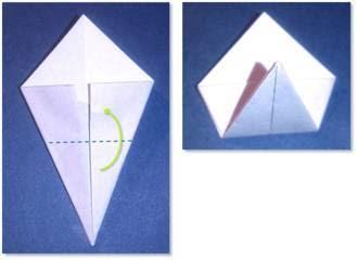 Langkah - langkah dalam membuat bunga hydrangea dari kertas lipat