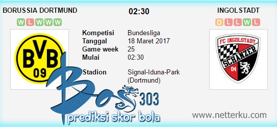 Borussia Dortmund vs Ingolstadt 18 Maret 2017 - Netterku.com