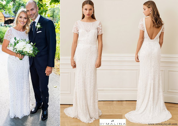 Andrea Brodin wore by Malina Antonia wedding gown