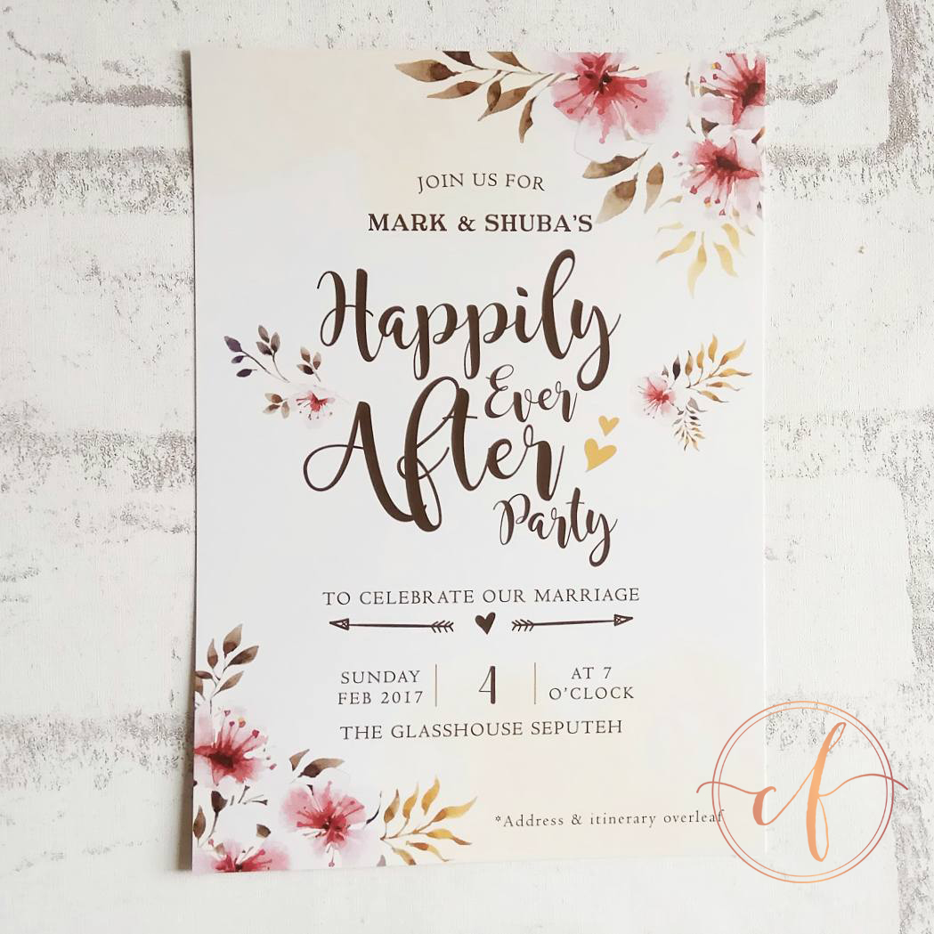 Wedding Card Malaysia | Crafty Farms Handmade