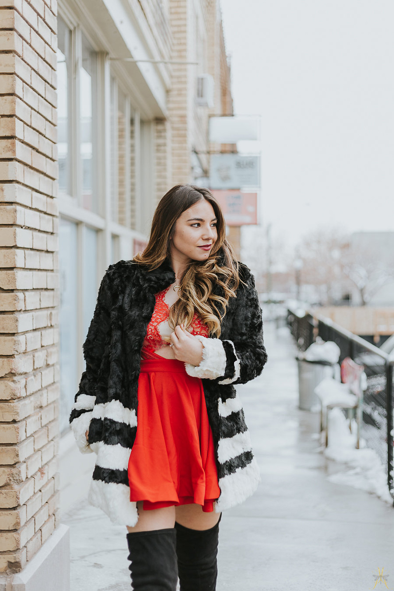 faux fur, sedona east, chase and chloe shoes
