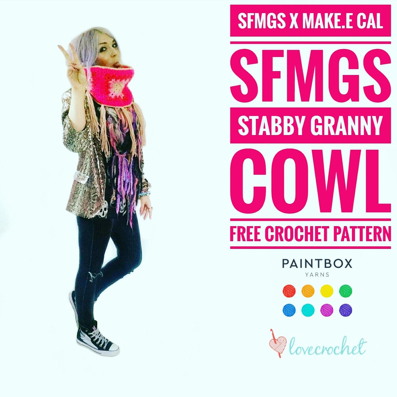 free easy crochet cowl granny square pattern