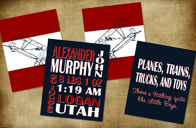 vintage airplane nursery printables