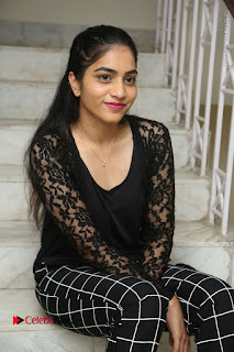 Actress Punarnavi Bhupalam Stills in Black Dress at Pittagoda Press Meet  0085.JPG