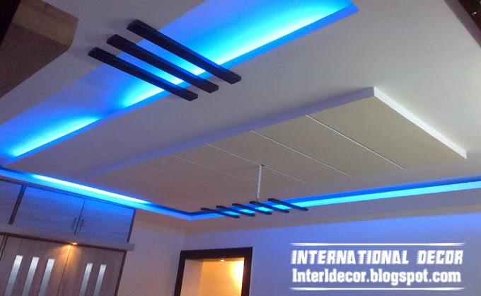False ceiling pop designs with LED ceiling lighting ideas ...