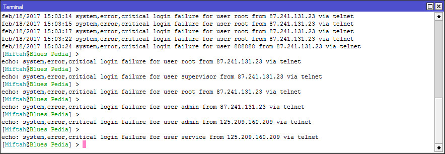 Mengamankan Mikrotik Dengan Memblokir Akses Service Port