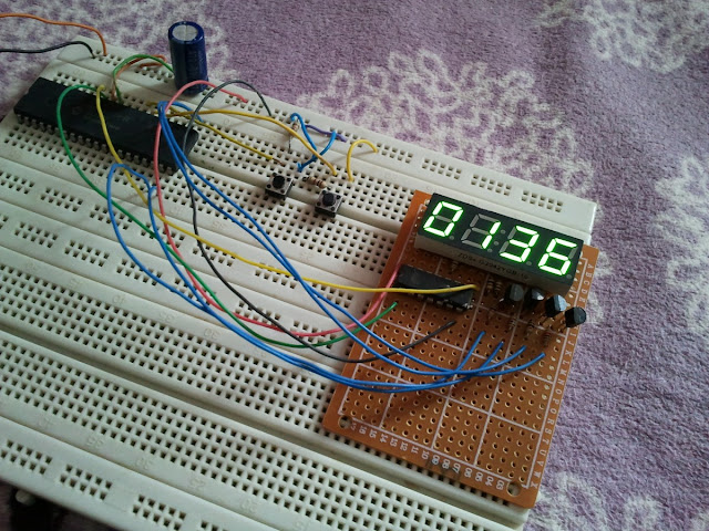 7 segment shift register 74hc595