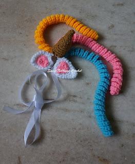 free crochet headband pattern, free crochet unicorn headband pattern