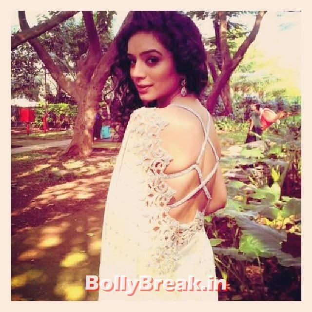 sexy! :o sukirti kandpal, Riddhima, Dill Mill GayYe, pyaar ki yeh ek kahaani,  simran, kaisa yeh ishq hai, hot, bringing sexy back, actresses, Curls, Curly hair, saree, garden, nature, beautiful, love, indian, tv, show,, Sukirti Kandpal Hot Pics - Bigg Boss 8 Contestant