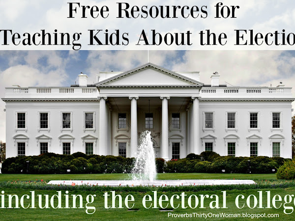 Free Resources for Teaching Kids About Elections - including the Electoral College