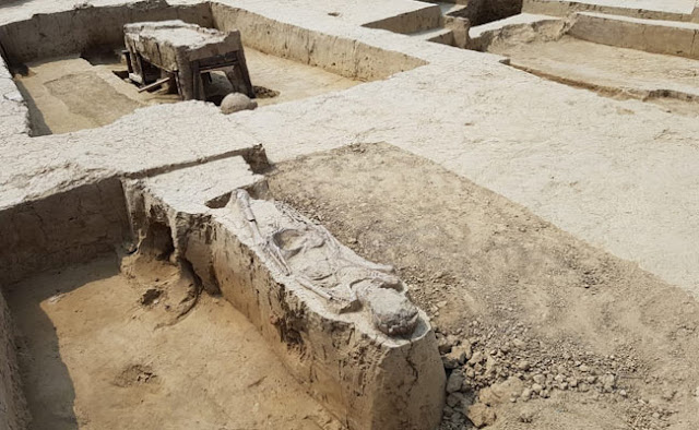 Chariots from Bronze Age found during excavation in Uttar Pradesh's Sanauli