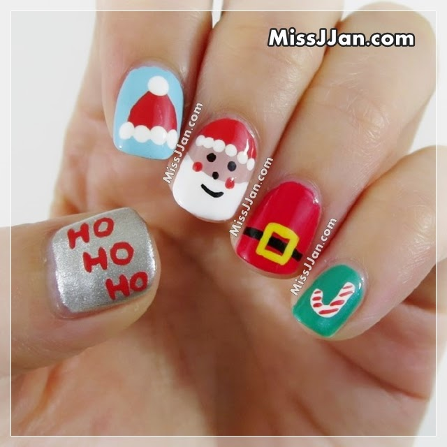 Santa Claus Nail Art: MissJJan's Beauty Blog ♥: Santa Claus Nail Art 5 Cute