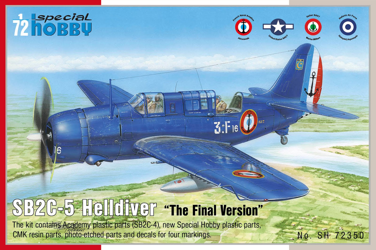 1/72 - Curtiss SB2C-5 Helldiver by Special Hobby (plastic