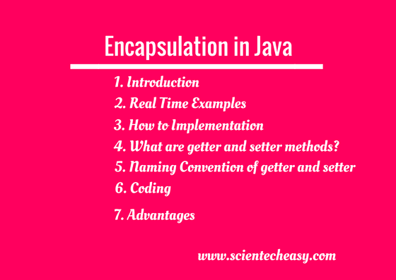encapsulation,java encapsulation,what is encapsulation in java,encapsulation in java with example,encapsulation in object oriented programming,encapsulation in oops,data encapsulation in java,example of encapsulation in java
