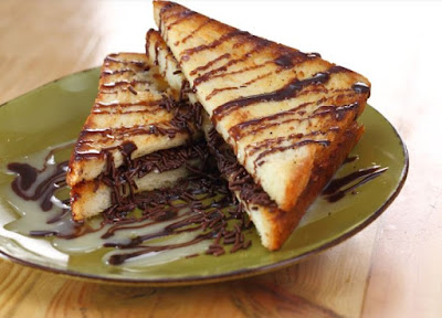 roti bakar coklat - menu sarapan pagi simple