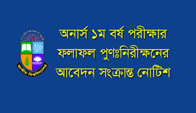 The National University Bangladesh Honours 1st year results review application related notice here.
