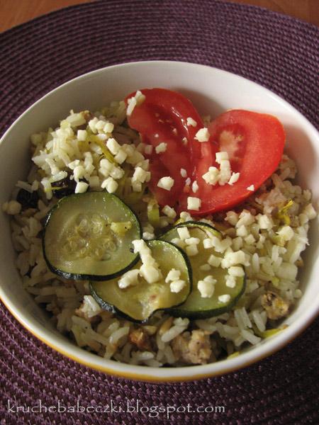 Zapiekanka z ryżem, mięsem mielonym, rodzynkami i nie tylko ...