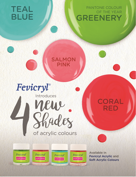 Globally trendsetting shades launched by Fevicryl