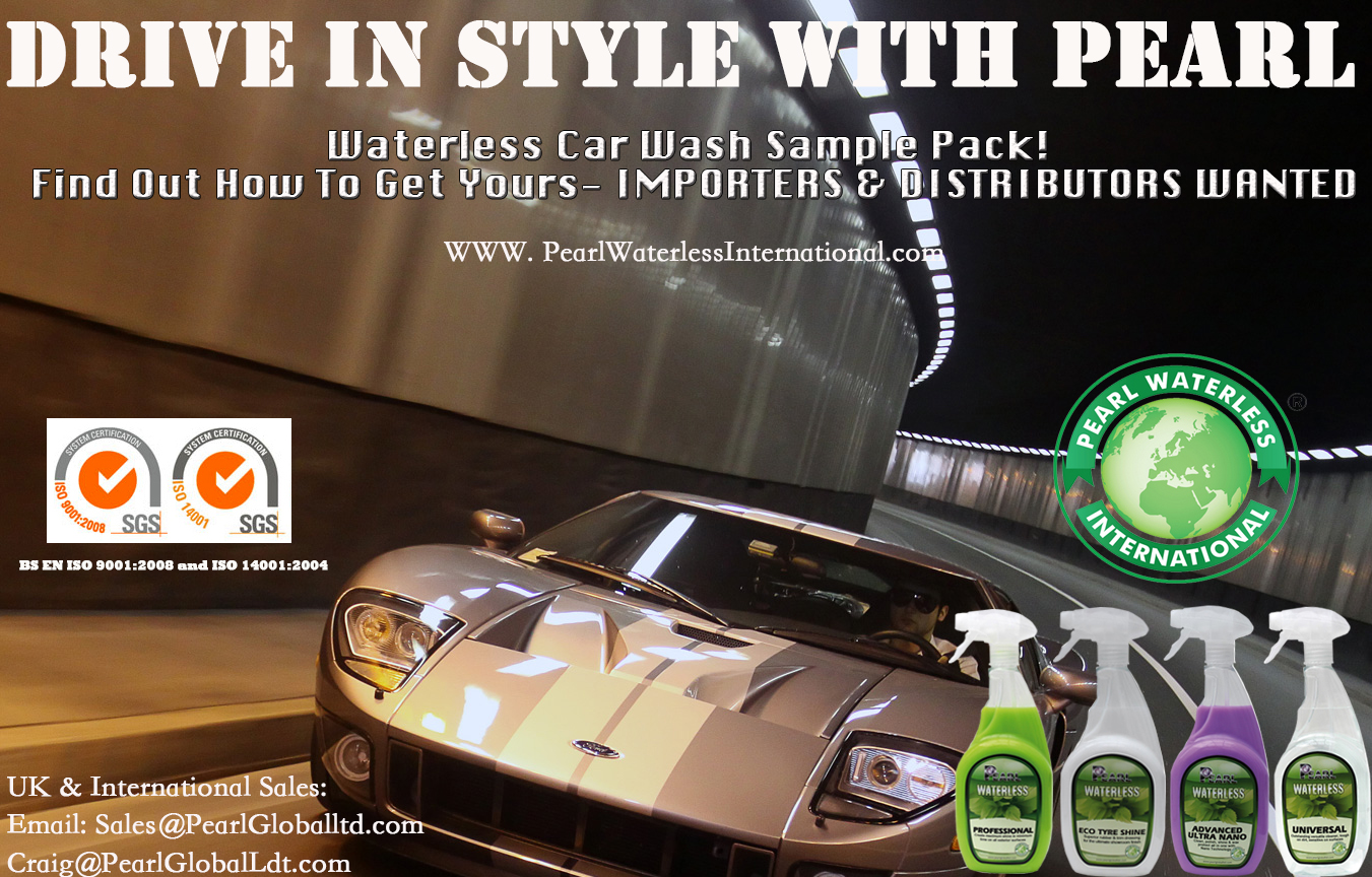 Join pearl waterless in delivering quality waterless car wash products become an distributor today