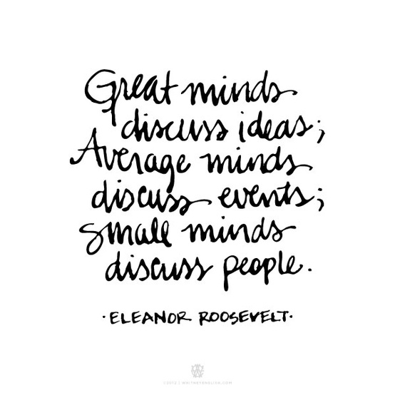 Small Minds Discuss People Quote: Small Minded People Quotes. QuotesGram