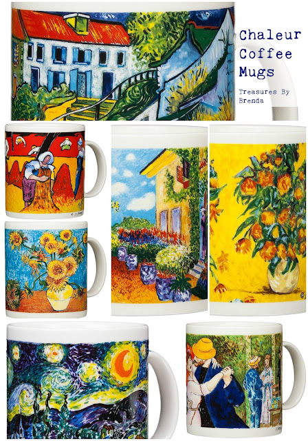 Chaleur Coffee Mugs Feature Famous Pieces of Artwork