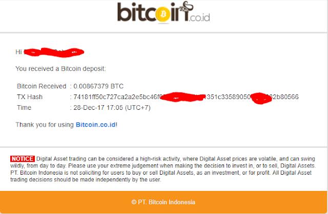 bukti withdraw atau bukti pembayaran dari Cryptomining Farm