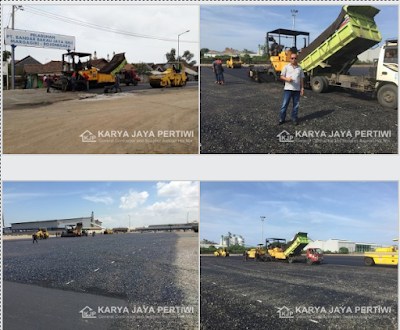 Pengaspalan Pelabuhan Bandar Bakau Jaya, Bojonegara Cilegon Banten.